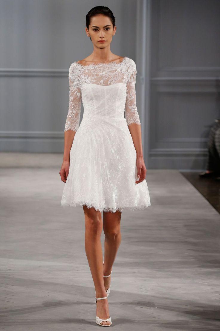 Super cute civil ceremony dress.  Monique LHuillier - Spring 2014