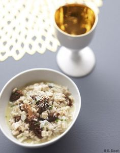 Risotto de crozets aux morilles séchées pour 4 personnes - Recettes Elle à Table - Elle à Table