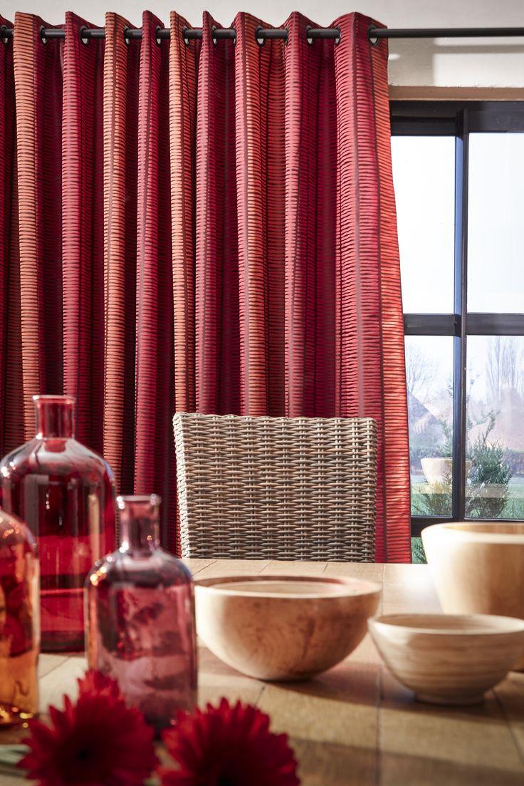 ambiance tissu waga grenat collection heytens 2014 le. Black Bedroom Furniture Sets. Home Design Ideas