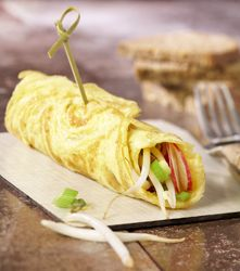 Recept » Colruyt Culinair omelet met radijs en lente-ui