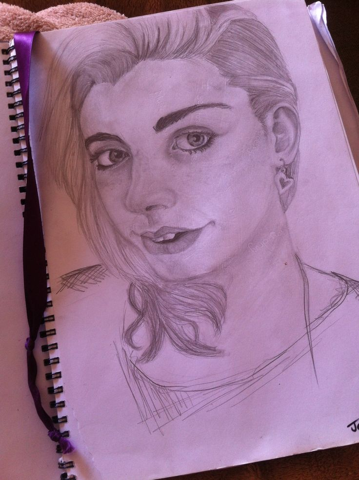 Journal work; self portrait