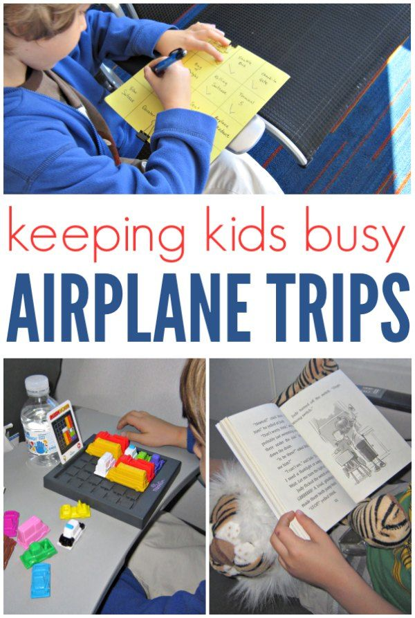 How to keep kids busy with travel games at the airport and during long airplane rides.
