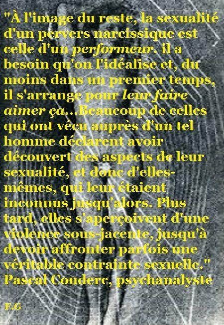 La sexualité du pervers narcissique (Pascal Couderc)