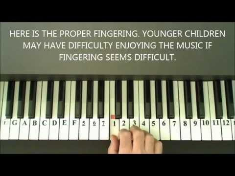 how to play jingle bells on the piano with numbers