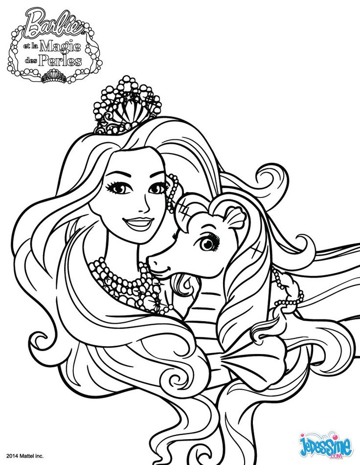 Coloring Pages For Girls With Pets And A Princess