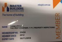 Master Builders Queensland  The Pest Company members since 2012