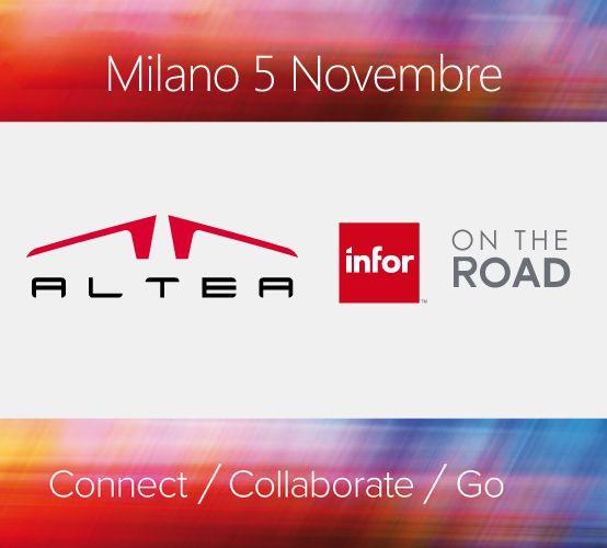 Milano, Palazzo Mezzanotte, martedì 5 Novembre AlteaSpA ti aspetta all'Infor on the Road 2013 per aggiornarti su tutte le #novità tecnologiche della suite di #applicazioni #Infor per accelerare il tuo Business: l' #ERP diventa #Mobile #Social #Cloud e garantisce una #UserExperience che trasforma il tuo modo di lavorare!  Iscriviti al sito http://www.alteanet.it/NewsDetails/Eventi/ALTEA_allInfor_on_The_Road_2013 e seguici sui nostri Social Channel!