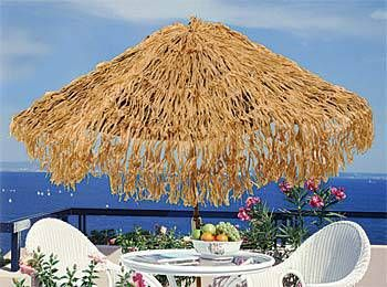 Our Tropical Umbrella Cover will turn your ordinary patio umbrella to a tropical one. This 9' polyplastic umbrella covers an existing table umbrella.