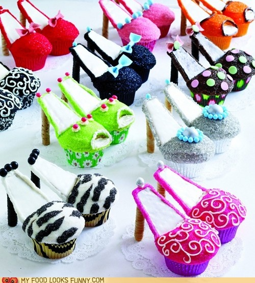 Super cute for a girls night in party.: High Heel Cupcakes, Idea, Recipe, Food, High Heels Cupcakes, Cupcake Sho, Shoe Cupcakes, Cupcakes Shoes, Shoes Cupcakes