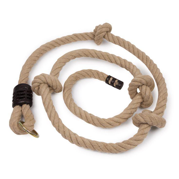 Dit touw van 220 cm is ideaal als opstap naar een boomhut, klimboom of voor op je kamer. Je kunt hem ook leuk ophangen bij de schommel. Kinderen kunnen aan dit touw hun kracht en behendigheid trainen. Het touw heeft enkele knopen die het klimmen makkelijker maken. Met ...