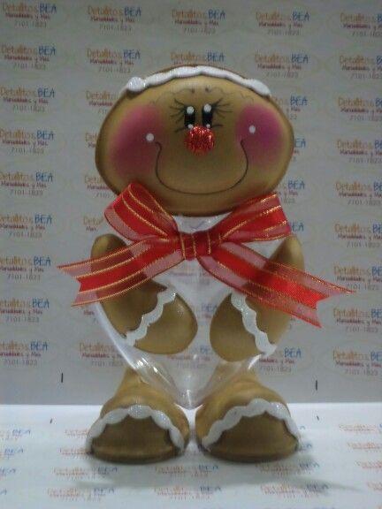 Ginger dulcero foami no l pinterest - Centros navidad manualidades ...