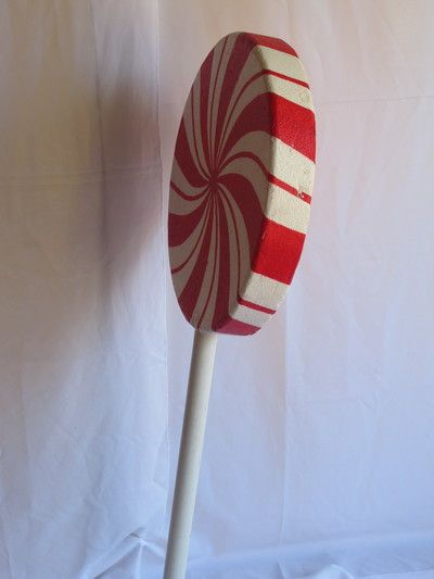 Lollipop on base. Hardened polystyrene. Perfect for Candy Land Parties. R130 for 4 days to rent.
