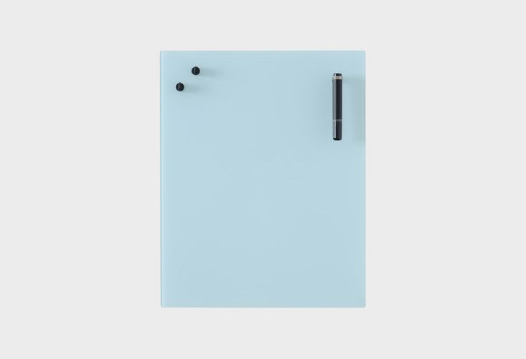 A contemporary take on the classic white board. The Chat-board is a magnetic, glass memo board. Typically Danish in design, Chat-Board provides a minimal and refined aesthetic to any space.