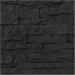 Black Bear Faux Stone Siding Stacked Stone - Charcoal
