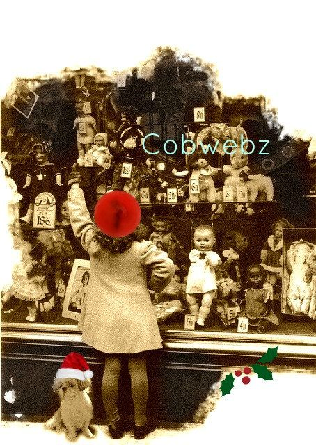 Christmas Child Toy Shop Downloadable Image Shih By CobwebzGallery