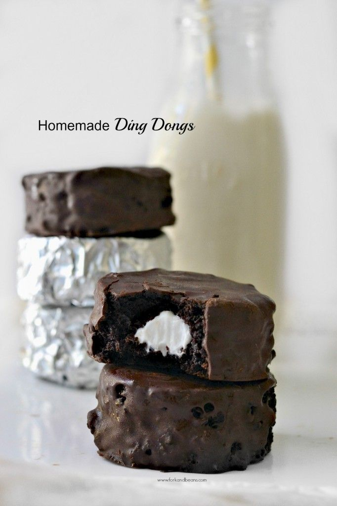 These homemade Ding Dongs are the perfect decadent treat (and they are filled with coconut whipped cream!) #glutenfree #vegan