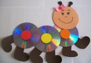 EL ARTE DE EDUCAR: RECICLANDO LOS CDs