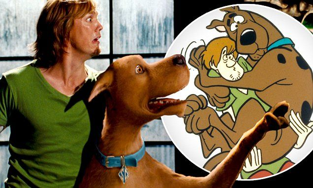 Based on a cartoon first created in 1969, two very profitable movies - released in 2002 and 2004 - combined live actors with a CGI version of Scooby-Doo the dog.
