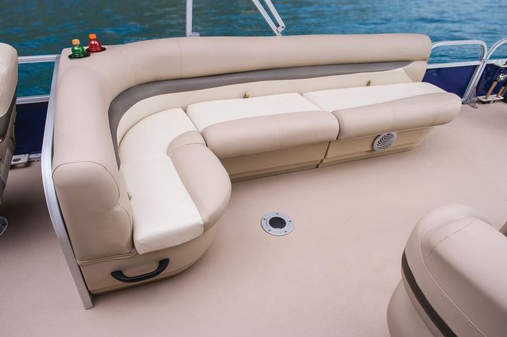 Aft L-lounge w/lockable underseat dry storage box http://www.exclusiveautomarine.com/product/fishin-barge-20-dlx
