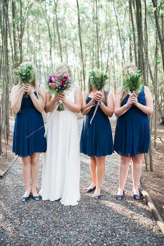 Annerie and her bridesmaids