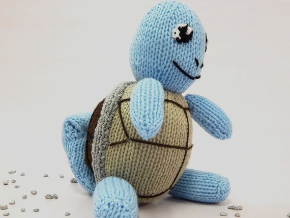 SQUIRTLE POKEMON hand knitted Pokemon toy hand by MadeWithAltitude