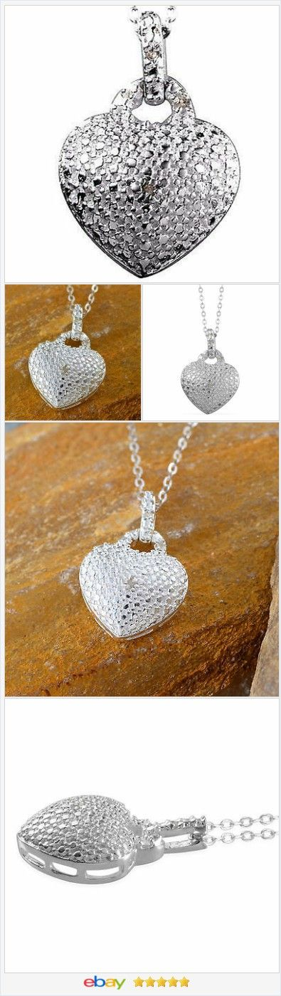 Heart Necklace .925 Sterling Silver with chain 20 inch   | eBay  60% OFF #EBAY http://stores.ebay.com/JEWELRY-AND-GIFTS-BY-ALICE-AND-ANN