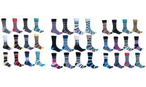 Groupon - Alberto Cardinali Men's Patterned Socks Mystery Deal (12-Pairs). Groupon deal price: $26.99