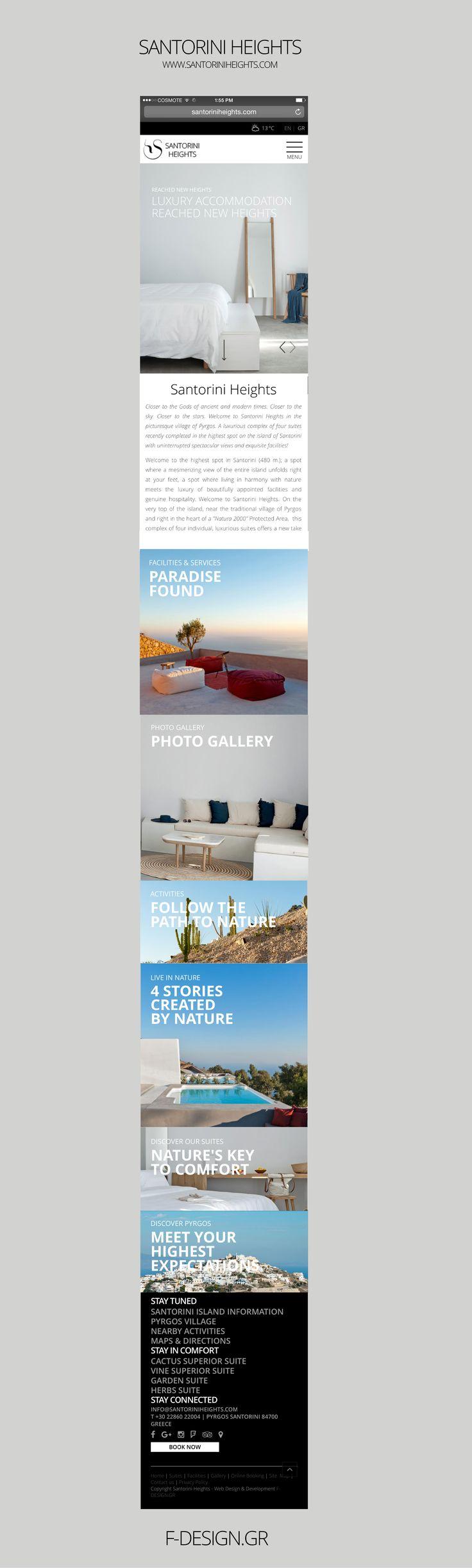 F- Design Website for Santorini Heights at www.santoriniheights.com. #web #website #santorini