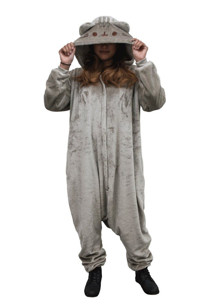 Whether you want to look just purrrrfect cosplaying at a convention or just napping all day, you'll be the cat's pajamas in this super soft and cozy Pusheen one-piece. Includes pockets, one size fits