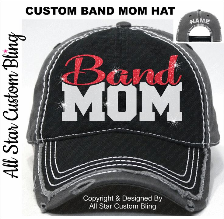 Band Mom Baseball Mom Glitter Hat