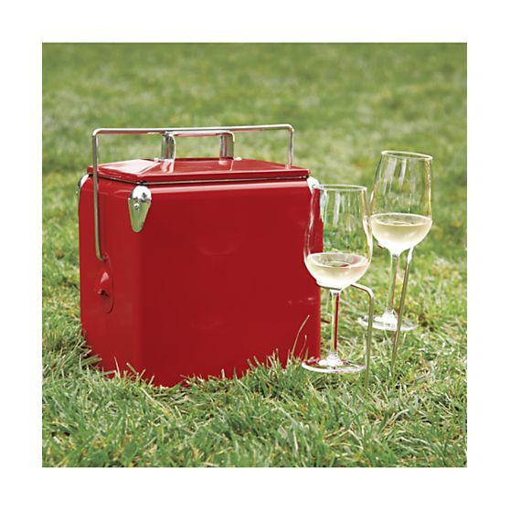 Red Picnic Cooler | Crate and Barrel