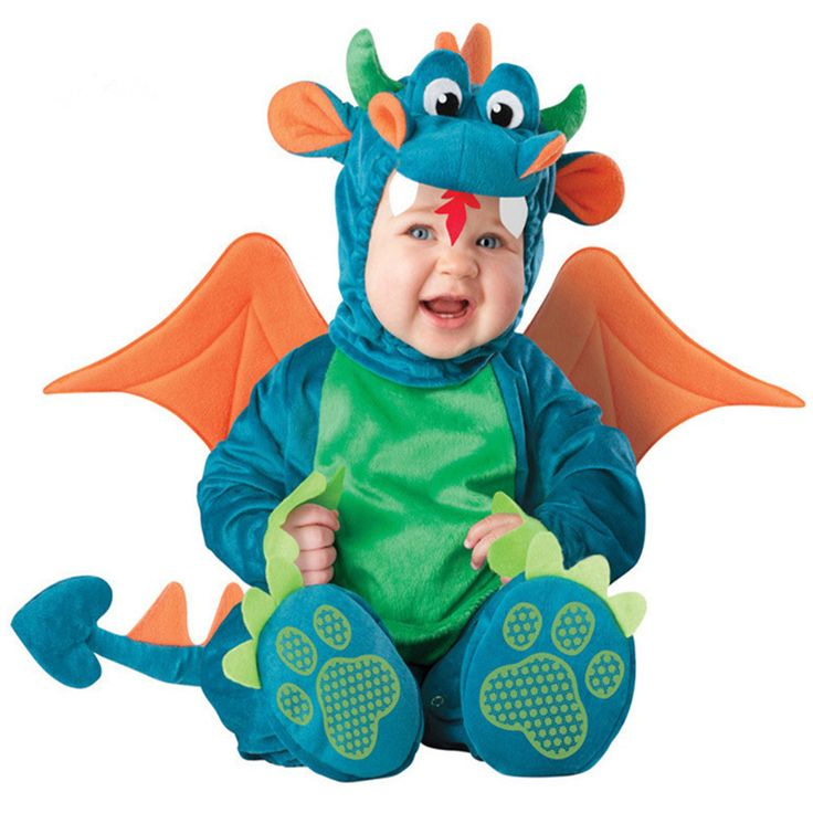 2017 Easter Carnival Baby Boys Triceratops Costume Infant Baby Dinosaur Animal Cosplay Newborn Toddlers Clothes