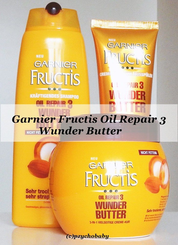 Butter für die Haar - Garnier Fructis Oil Repair 3 Wunder Butter