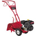 "The Troy-Bilt Bronco rear tine tiller is equipped with a powerful 208cc engine that packs quite a wallop! This tiller will have no trouble dealing with tough dirt patches and hard packed soil. Thanks to the counter-rotating tines, and with an adjustable tilling depth of up to 6″, this tiller can tackle pretty much any home gardening task. Easy to control and simple to learn to operate, The Troy-Bilt Bronco will quickly become your ""favorite"" gardening tool."