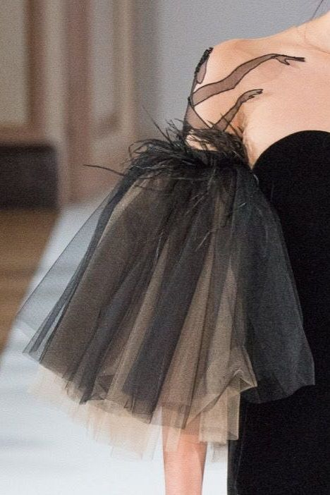 Yanina | Haute Couture | Spring 2016-- interesting way to dress up a sleeve...ballet tutu