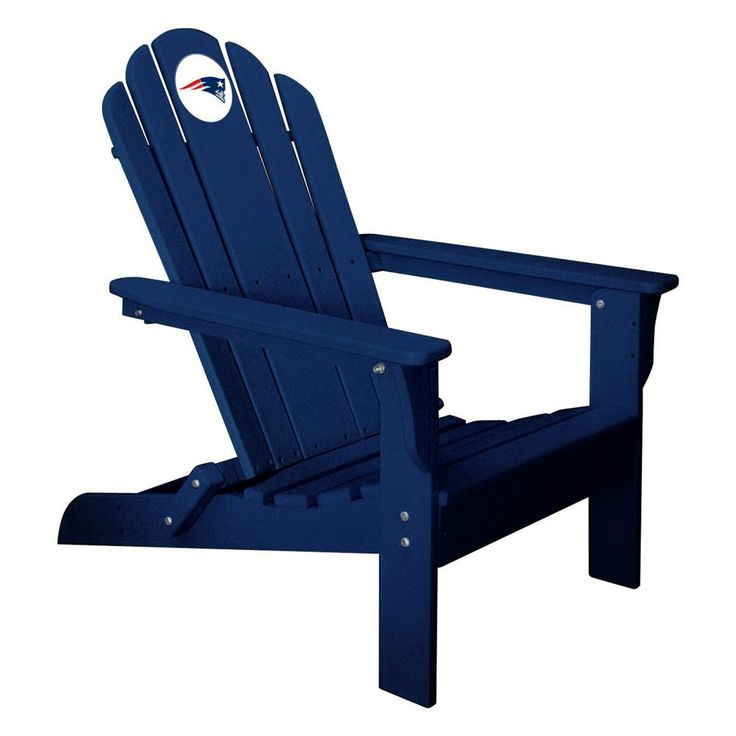 New England Patriots Folding Composite Adirondack Patio Chair in Navy
