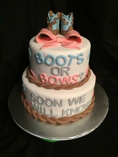 Boots Or Bows Baby Shower Poppy Locks Cakes