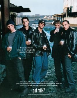 Backstreet Boys Got Milk? Ad. I had this on my wall for YEARS