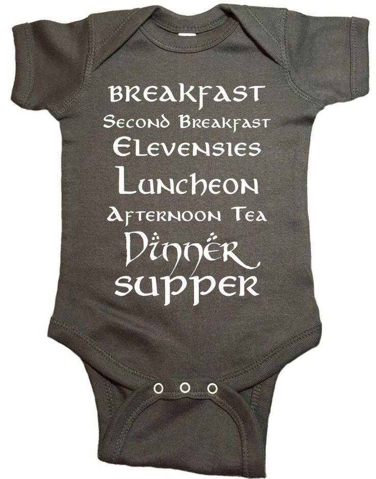 Second Breakfast LOTR Baby Onesie