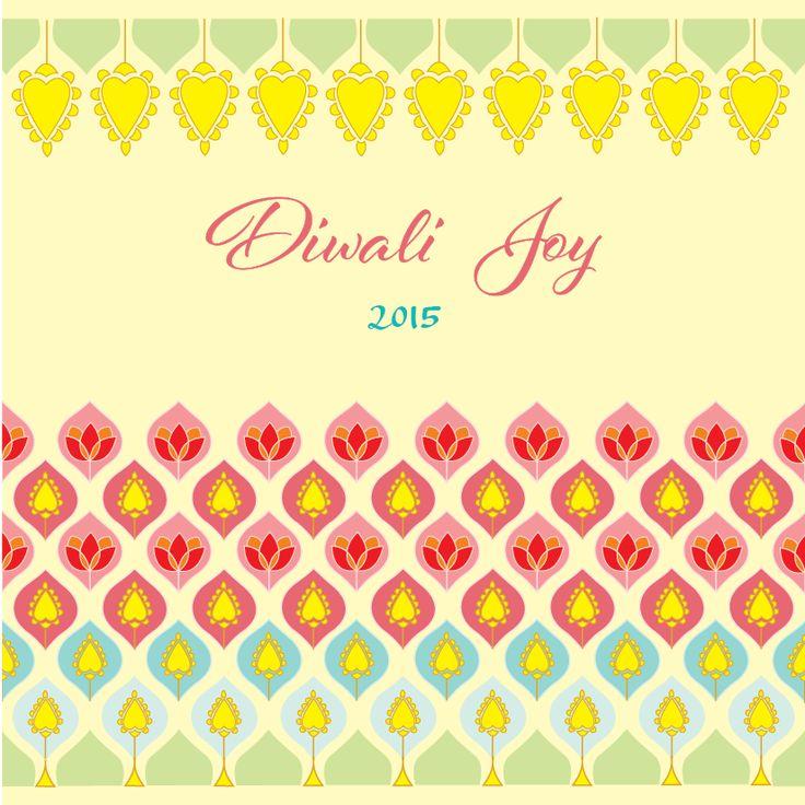 Vintage-Butas, Diwali Cards, Festival Cards