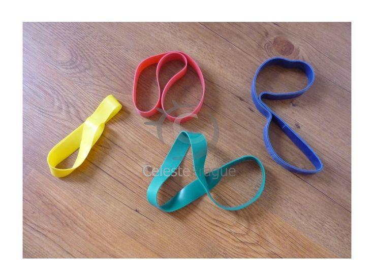 Posilovací O guma šíře 2,5 cm. O guma na cvičení, 4 stupně odporu, cena za 1 ks