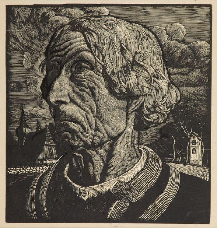 Władysław Skoczylas - Głowa górala , 1913 r.