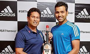 Sachin Tendulkar welcomes Rohit Sharma to Team Adidas