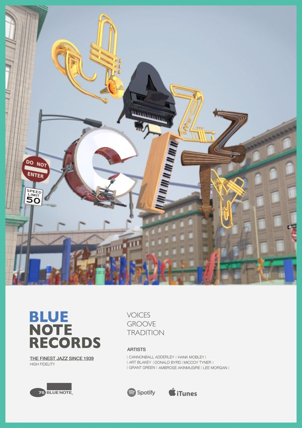 Blue Note Records by Lee Minhyung, via Behance