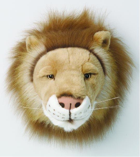 Trophée peluche lion Bibib & co en peluche