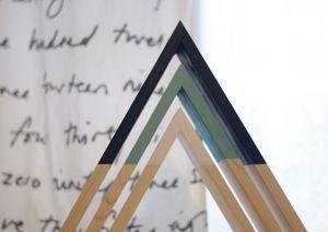 Triangle Wall Shelf Set - storage space