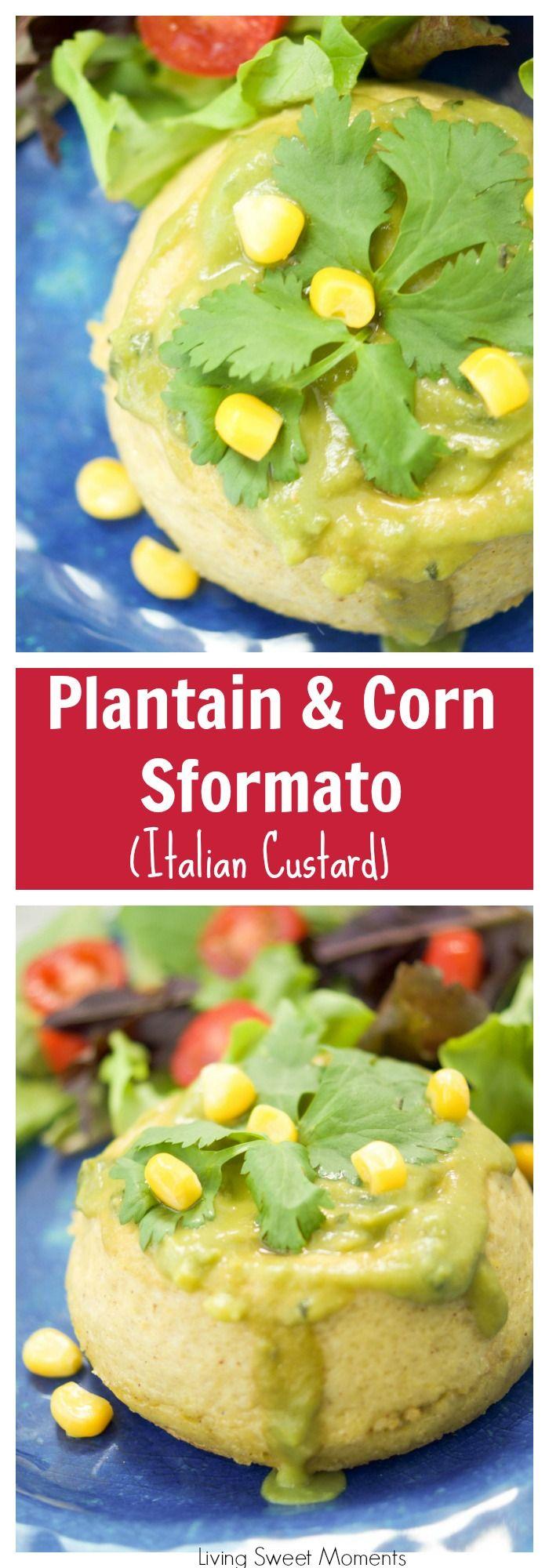 This creamy plantain corn sformato recipe (Italian custard), is the perfect vegetarian entree or appetizer recipe for any occasion. #ad #worldeggday