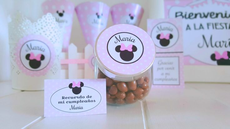 KIT IMPRIMIBLE MINNIE MOUSE. CANDY BAR. DECORACION FIESTA. TOPPERS PERSONALIZADOS