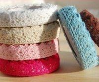 Envío gratis precioso autoadhesiva algodón decoración solo lado del cordón de la cinta adhesiva de encaje Frabric 20 unids/lote