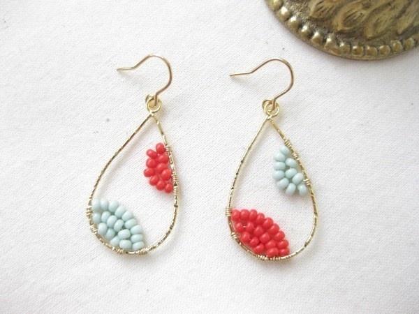 wire wrapped earrings idea